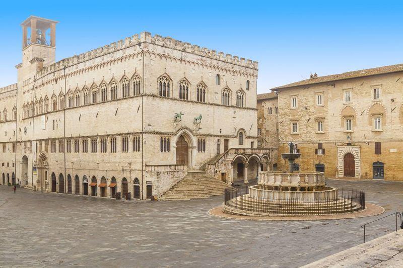 Perugia square view Perugia Travel Umbria, Italy Culture Landmark Tourism Tourism Destination Travel Destinations Umbria