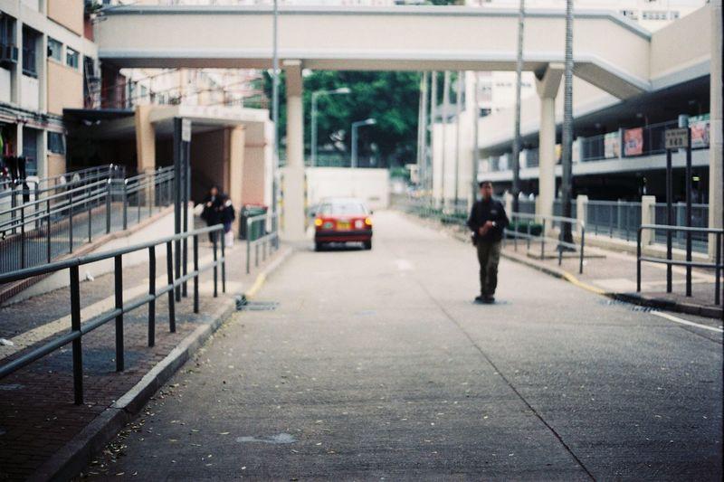 Man walking in city