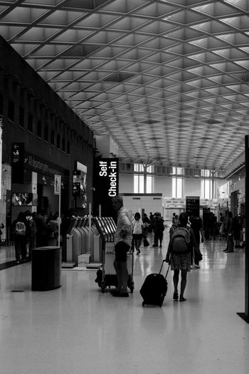 Group of people at airport