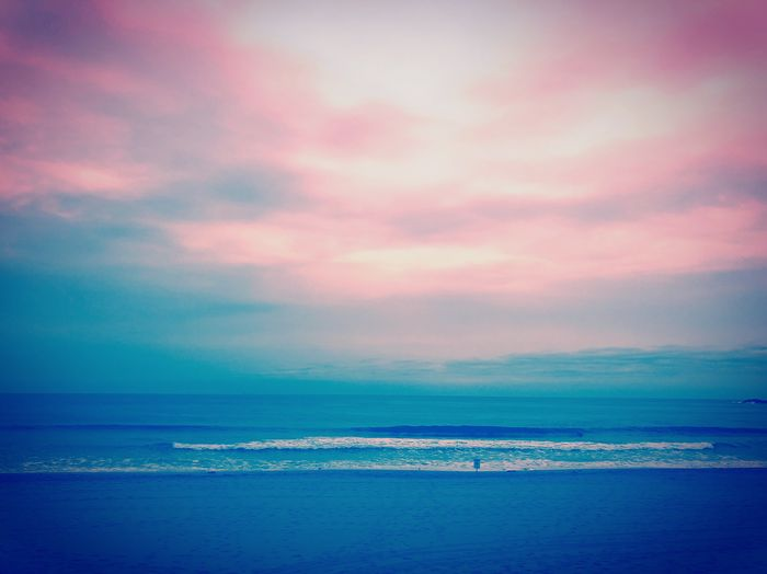 Colours of the sea Photography Simplethings Beauty In Nature EyeEm EyeEm Gallery Picoftheday EyeEm Selects Sea Water Sky Cloud - Sky Beauty In Nature Scenics - Nature Sunset Horizon Over Water Nature Land Tranquility Tranquil Scene Idyllic Horizon Dramatic Sky Multi Colored Beach No People Outdoors