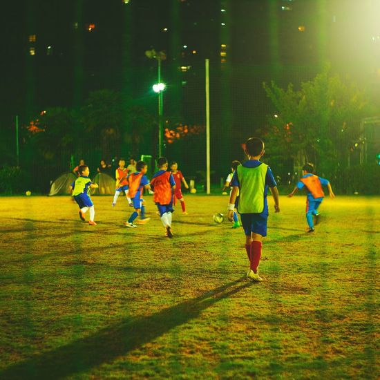 Boys practicing soccer during summer vacation Sport First Eyeem Photo