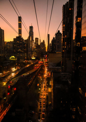 Roosevelt Island cable car, NYC. Photographed by Cooper Billington. Cable Car City Life Colors NYC Landscape Lifestyles Photo Photography Sunset Yellow Paint The Town Yellow