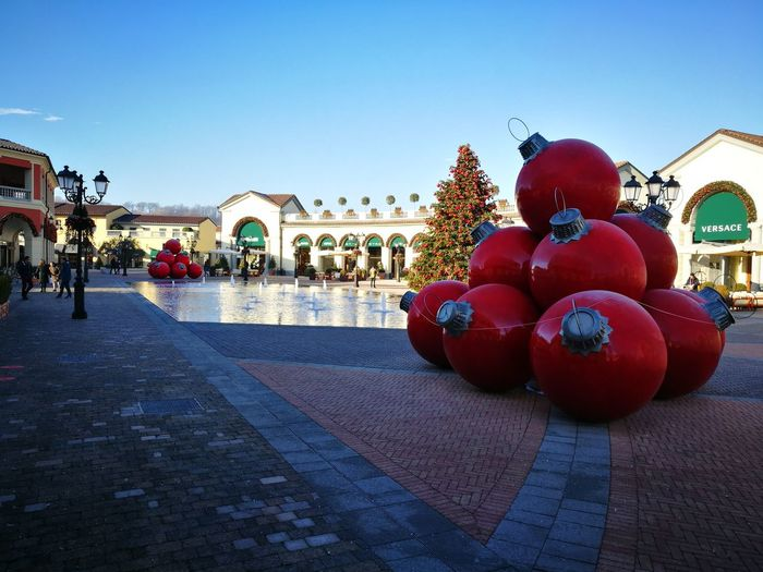 Celebration Sky Christmas Serravalle Designer Outlet Christmas Decoration Outdoors People Adult Adults Only Christmas Ornament Day