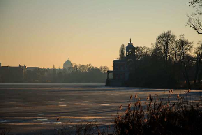 Architecture Building Exterior Built Structure City Cityscape Cultures Frozen Frozen Nature Frozenlake Heiliger See Lake Marblepalace Nature Nature Photography Naturelovers No People Outdoors Potsdam Religion Sky Skyline Sunset Travel Destinations Tree Water