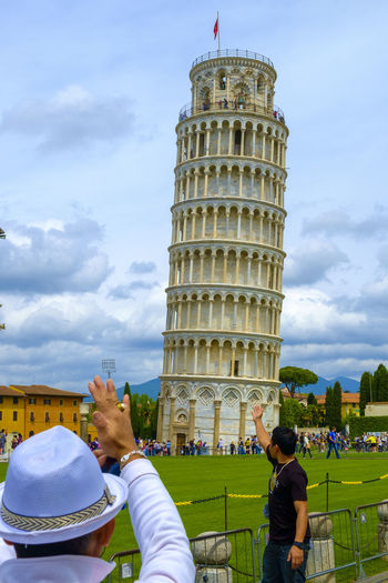 Pisa Tower Architecture Building Exterior Built Structure City Cloud - Sky Day Italy Landmark Large Group Of People Leisure Activity Lifestyles Men Outdoors People Pisa Pisa Tower Real People Sky Tourism Travel Destinations Tuscany Vacations Women