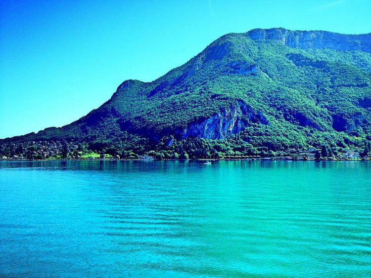 France Lake Blue Blue Sky Lovely View Taking Photos
