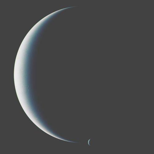 Neptun and it's moon Tryton ⭐