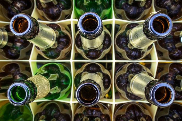 After Party Alcohol Anging Out Beer Beer Box Bottles Choice Close Up Close-up Day Drinking Drinking Beer Empty Empty Bottles Having Fun Indoors  Large Group Of Objects No People Party Party Time Retail  The Day After The Next Morning Beautifully Organized Abstract