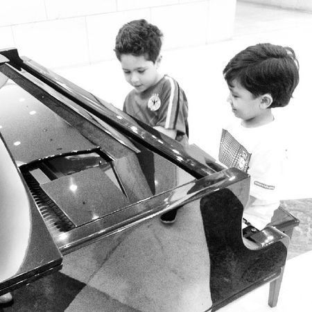 My boys being all beethoven and stuff .. sh3abalkom Kids Annoying As Hell
