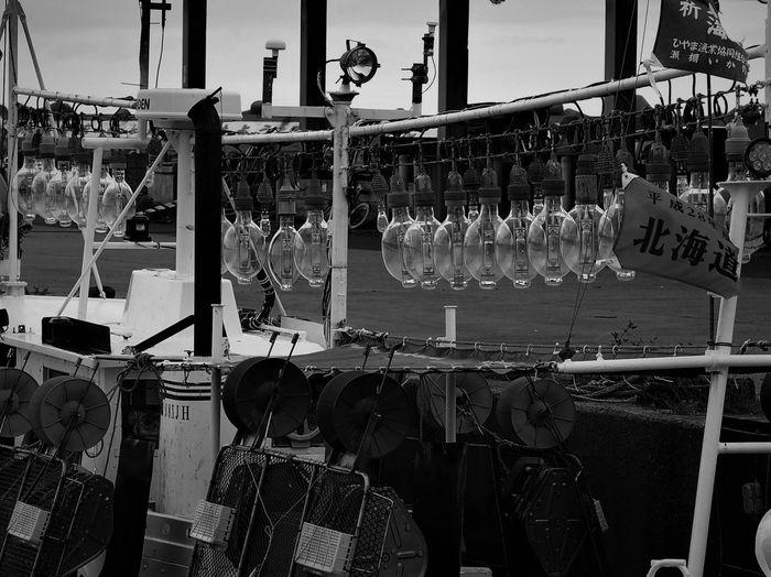 北海道 Hokkaido Hokkaido,Japan せたな町 漁船の灯り 集魚灯 モノクロ モノクロ写真 Monochrome Eyeem Monochrome EyeEm Best Shots - Black + White Sea Water Bw Bw_lover Bw_collection