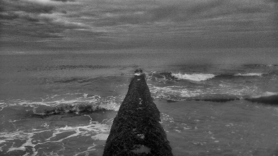 Blackandwhite Beachphotography Waves Floodwaters Storm Traveling
