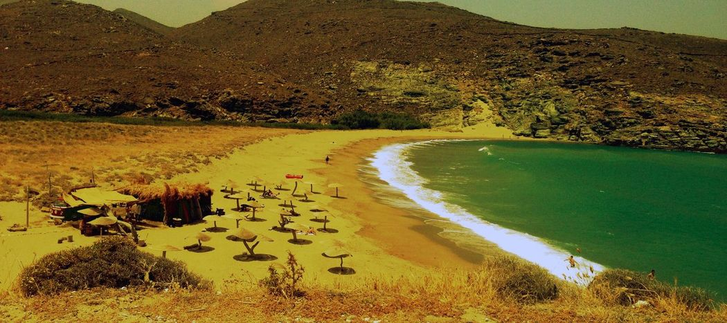 Water Landscape Scenics Tranquility Nature Beauty In Nature Outdoors High Angle View Tranquil Scene Mountain No People Lake Day Tree Sky Tinos Greece Tinos Sea Seaside
