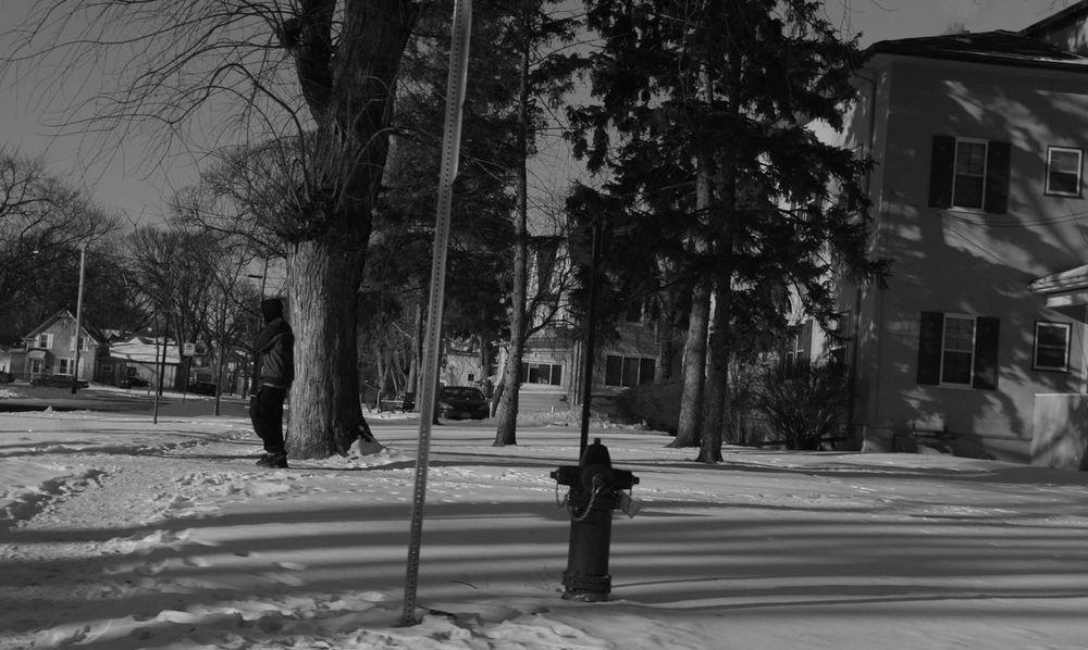 QVHoughPhoto FujiFilmX100 Fargo Northdakota Streetphotography Streetphoto_bw Winter Snow Hoodie Blackandwhite Firehydrant
