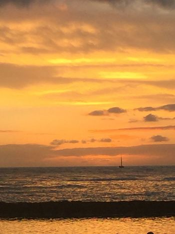 Pacific Ocean Sky Pacific Sky Pacific Sunset Island Of Oahu, Hawaii Orange Color Cloud - Sky No People Silhouette Sky Water Sunset No Edit/no Filter Pacific Sunset Ocean Pacific Ocean View An Eye For Travel