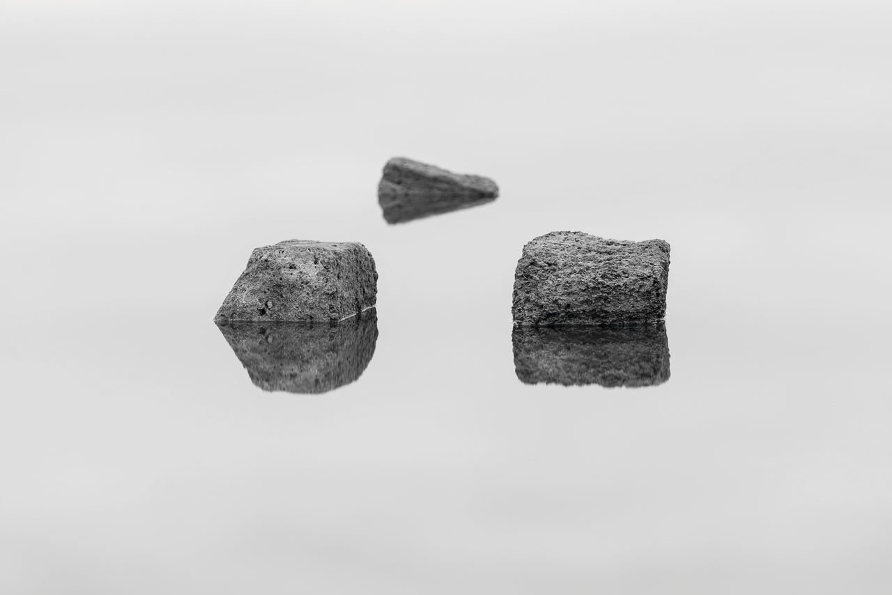 rock - object, no people, white background, studio shot, outdoors, day, close-up, nature, sky
