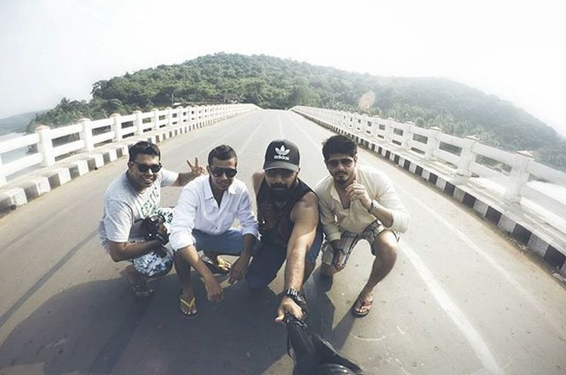 Sometimes all u need is someone who's joins you in on your weirdness Bffs Bffsonaroadtrip Havingfun Boyswillbeboys Boystimeout Chilling Traveling Exploring Places Goprooftheday Goproselfie Goprolovers Actionphotography Bridge Emptybridge Sea Sunny Ahd Goa Mytravelgram