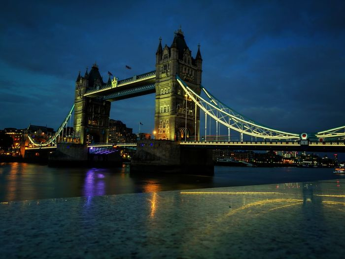 Tower Bridge #urbanana: The Urban Playground City Cityscape Illuminated Urban Skyline Suspension Bridge Bridge - Man Made Structure River Long Exposure Cultures City Life