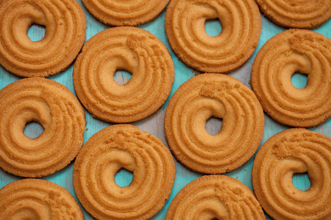 Circles of butter biscuits Cookies Backdrop Backgrounds Bakery Baking Butter Biscuits Butterfly Cafe Close-up Coffee Cake  Dessert Directly Above Food Food And Drink Fresh Freshness Indoors  Large Group Of Objects No People Pastry Sweet Food Tea Time Teal Color Temptation Wallpaper