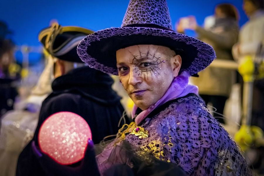 Carnival in Venice 2017 Carnival Disguise Fun Tradition Wizard Arts Culture And Entertainment Carnival - Celebration Event Celebration Close-up Costume Costumes Focus On Foreground Hat Headdress Headwear Leisure Activity Lifestyles Magician Magus Mask Mask - Disguise One Person Real People Tradition Venice