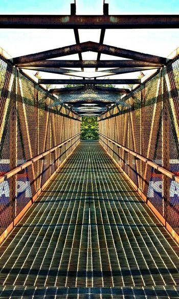 The Tunnel Vortex Bridge Metal Walkways  EyeEm Best Shots Walk This Way Going To The Other Side