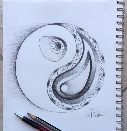 Yingyang Goodandbad Pattern Mono Black And White Tattoo Tattoodesign Tattooidea Ideas Ink Drawing Sketch Imagination Abstractart Abstract Art ArtWork Vasilisland