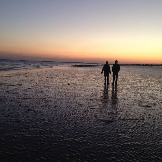 Adult Beach Photography Beach Walk Beach Walk At Sunset Beauty In Nature Bognor Bognor Regis Bognor Sea Front Bonding Coast Friendship Horizon Over Water Men Nature Outdoors Real People Sea Sea And Sky Silhouette Sky Sunset Sunset Silhouettes Togetherness Two People Water