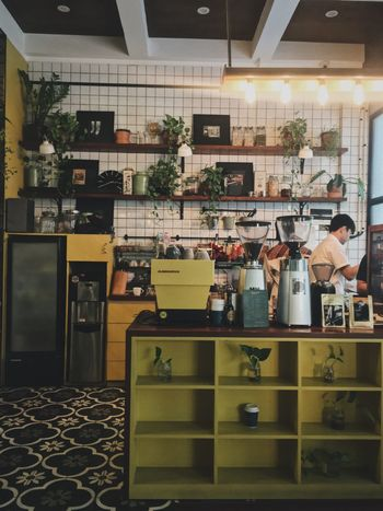 Coffee corner Coffee Barista Leisure Coffee Shop EyeEmNewHere Architecture Built Structure Drink Indoors  Occupation