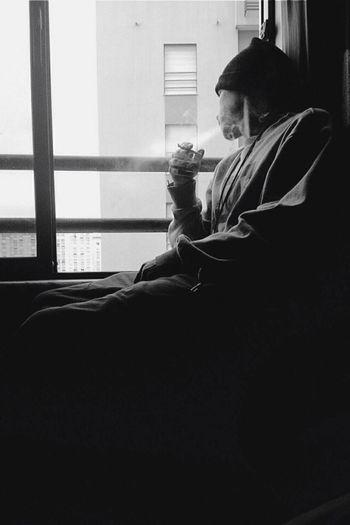 Blaze Smoke Smoking Wakeandbake Quiet Thoughts Blackandwhite Streetphotography