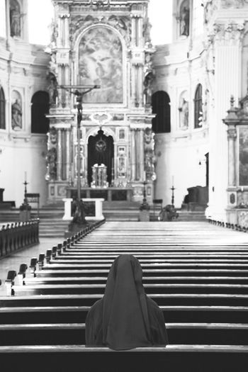 St. Michael's Church in Munich Blackandwhite Photography Blurred Background Christianity Church Cross Jesus Christ Place Of Worship Praying Religion Religion And Beliefs Spirituality St. Michaels Church