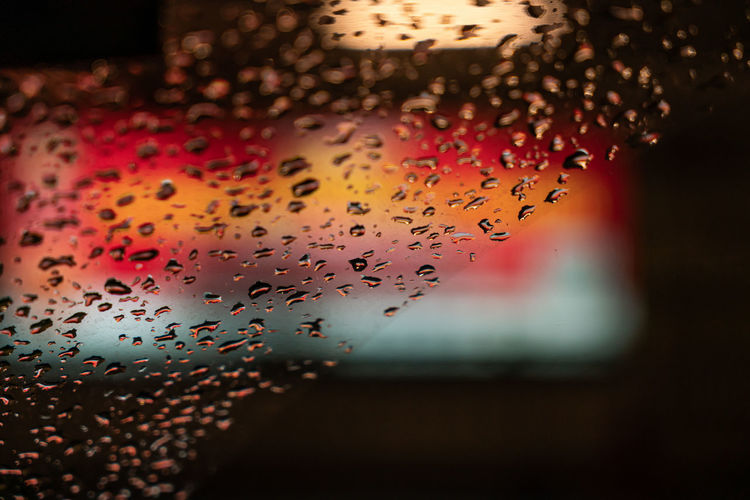 Rain drop on