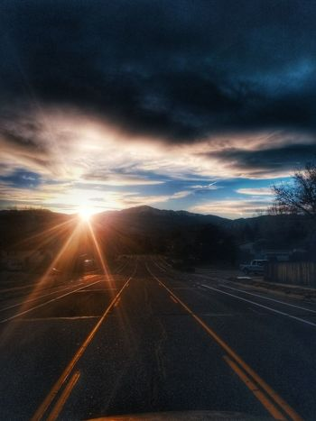 Sky ways and biways EyeEmNewHere Gold Colored Scenics Rural Scene Sunlight Illuminated Landscape Spirituality Tranquil Scene Freshness Close-up Sky Growth Flower Outdoors Sunset Nature Shadow Blue Mountain Silhouette Cloud - Sky Second Acts Travel Destinations Road