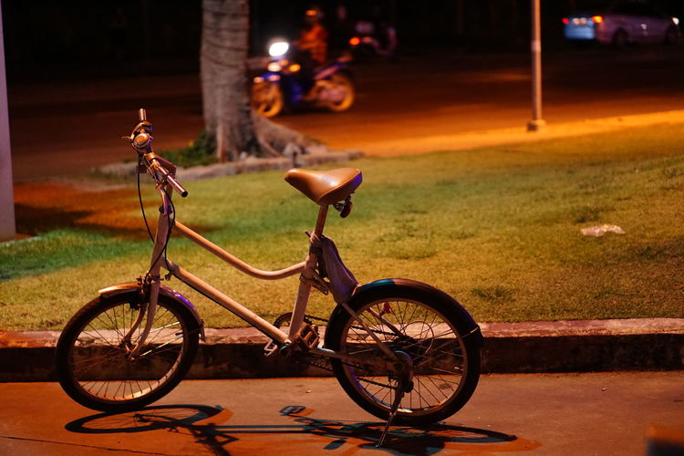 Bicycle Transportation Mode Of Transport Night Outdoors Street Land Vehicle