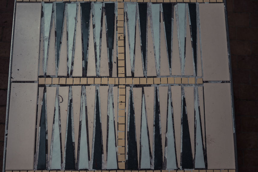 Backgammon Backgammon Board Game Board Games Broken Close-up Cross Day Full Frame Game Geometric Shapes No People Old Outdoors Outside Play Repetition Rotten