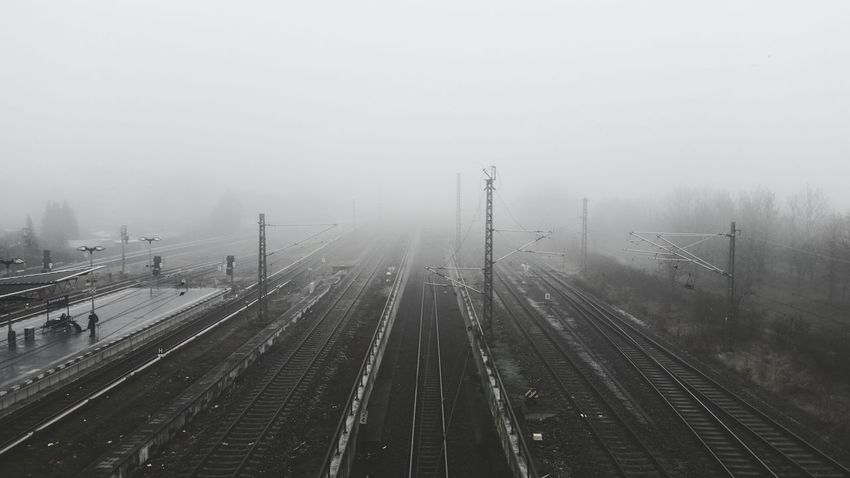 Berlin Bösebrücke  Nebel Fog Railway