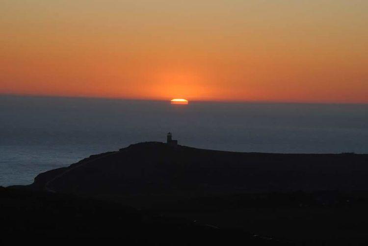 Sunset Beginning Far Eastbourne Beachyhead