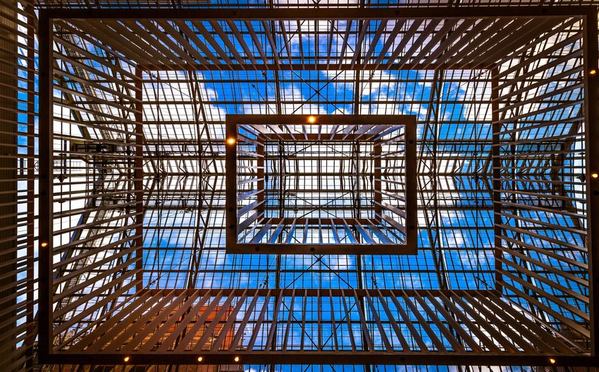 Roof of a museum in Amsterdam Rijksmuseum Clouds Only Steal Beams Stealbeam Skylovers Rooftops Architecture Built Structure Pattern No People Low Angle View Day EyeEmNewHere EyeEmNewHere