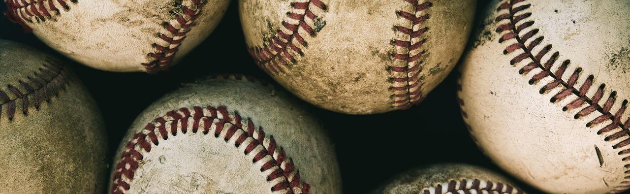 Full frame shot of baseball balls