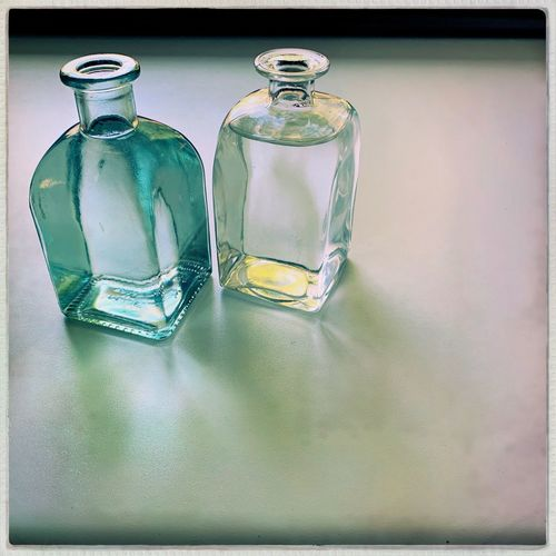 Table Glass - Material Container Indoors  No People Transparent Bottle Still Life Glass Green Color The Mobile Photographer - 2019 EyeEm Awards