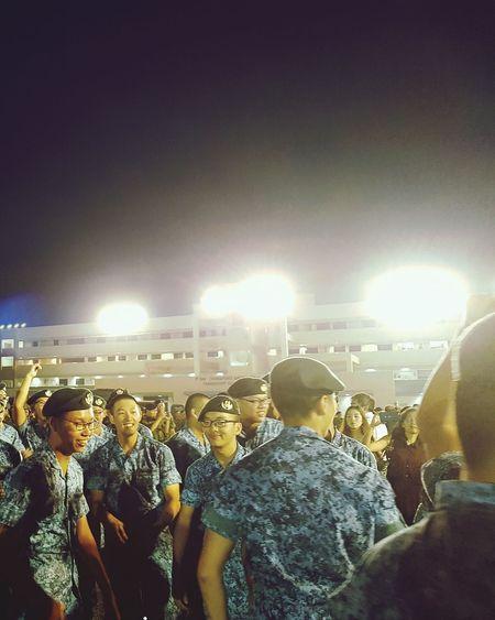 Elation Soldiers Graduation Parade Graduation Passing Out Parade Basic Military Training Sembawang Camp 7 Sept 2017 Singapore