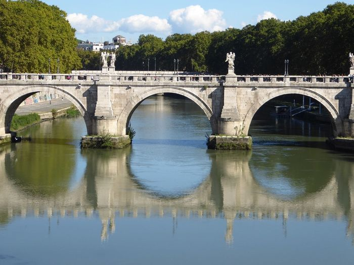 Neighborhood Map Rome Italy Reflections Reflection_collection Connection Architecture Arch Reflection nTravel lRiver rOutdoors sWater rTransportation nTree eWaterfront tTravel Destinations sCity yDay yCloud - Sky yNo People eSky yNature e