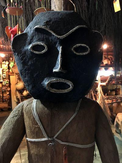 Amazonas Mascara Aborigen Aboriginal Art Piaroa Venezuela Mask - Disguise Night Real People Outdoors One Person Close-up People