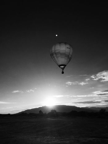 Newmexico Hotairballoon Nature On Your Doorstep Blackandwhite