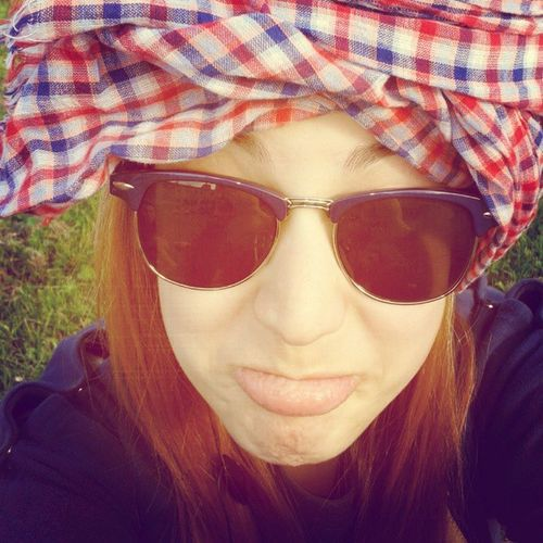 Sdfj Ciau Green Red Blue yellow grass sunglasses piffitipoffiti soorrenda :3