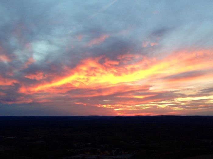 Hiking last night... a Connecticut sunset. Hiking On A Higher Plane Mother Nature Is My Jailer... And My Mistress