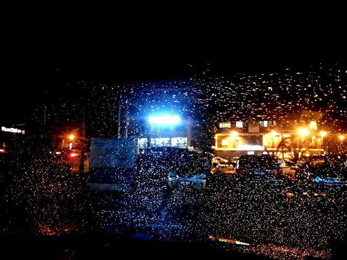 Colour of night Night Wet Outdoors Illuminated Water Dashboard ViewStock Photography Simple Stock Still Life Illusion Lights & Shadows Night Scenes