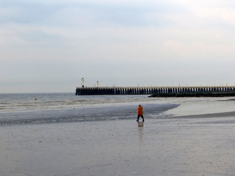 The Old Man and The Sea: go with the tides Adult Adults Only Architecture Beach Beachwalk Beachwalking Beauty In Nature Cloud - Sky Day Horizon Over Water Jetty, Pier Landing Stage Nature One Person Outdoors Pier Real People Sand Scaffolding Sea Sea And Sky Sky Watchtower Water Wave