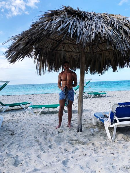 At the beach Varadero Cuba Beach Abs Chest Fit Fitness Muscle Muscular Build Land Water Beach Sea Sand Real People Sky Shirtless Leisure Activity Beauty In Nature One Person Day Lifestyles Tropical Climate Outdoors Sunlight