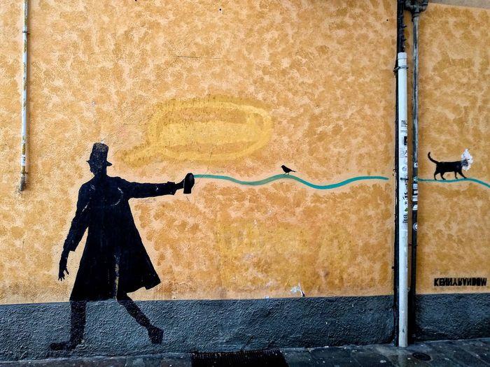 Padova, Aprile 2019 Hdr_Collection Urban City Building Exterior Graffiti Street Art Spray Paint Full Frame Human Representation