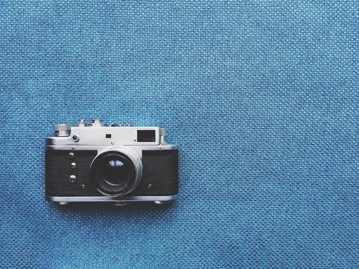 Close-up of retro styled camera