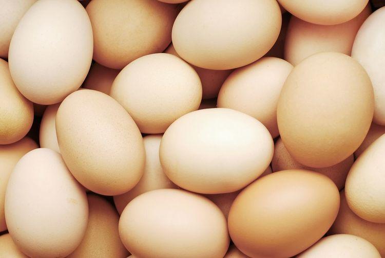 Full Frame Shot Of Raw Eggs For Sale At Market